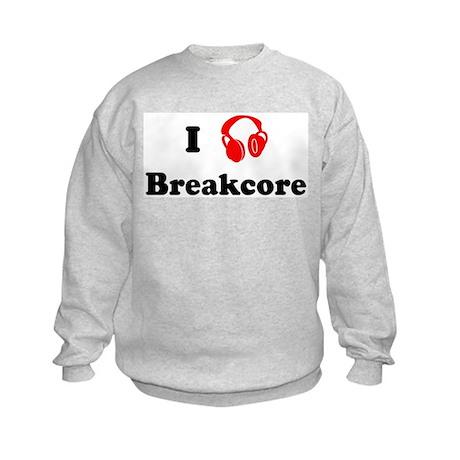 Breakcore music Kids Sweatshirt
