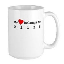 My Heart Belongs To Aliza Mug