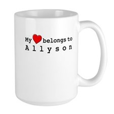 My Heart Belongs To Allyson Mug