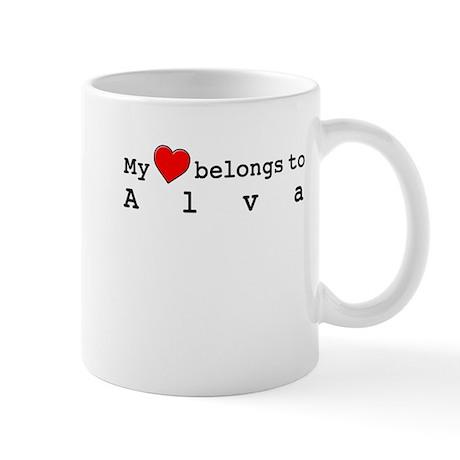 My Heart Belongs To Alva Mug