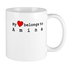 My Heart Belongs To Amina Mug