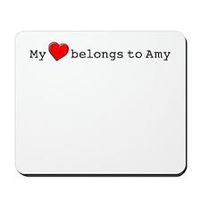 My Heart Belongs To Amy Mousepad