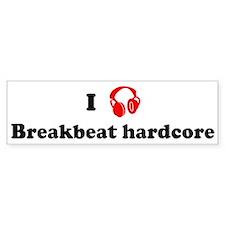 Breakbeat hardcore music Bumper Bumper Sticker