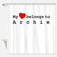 My Heart Belongs To Archie Shower Curtain