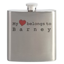 My Heart Belongs To Barney Flask