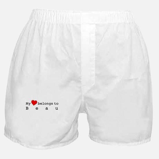 My Heart Belongs To Beau Boxer Shorts