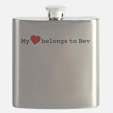 My Heart Belongs To Bev Flask