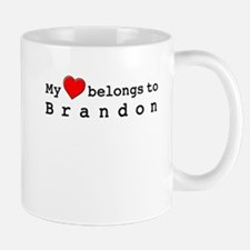 My Heart Belongs To Brandon Small Small Mug