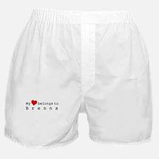My Heart Belongs To Brenna Boxer Shorts