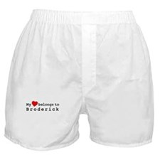 My Heart Belongs To Broderick Boxer Shorts