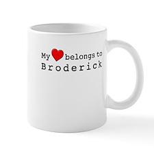 My Heart Belongs To Broderick Mug