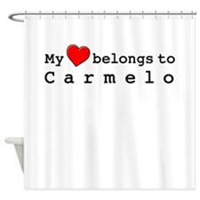 My Heart Belongs To Carmelo Shower Curtain