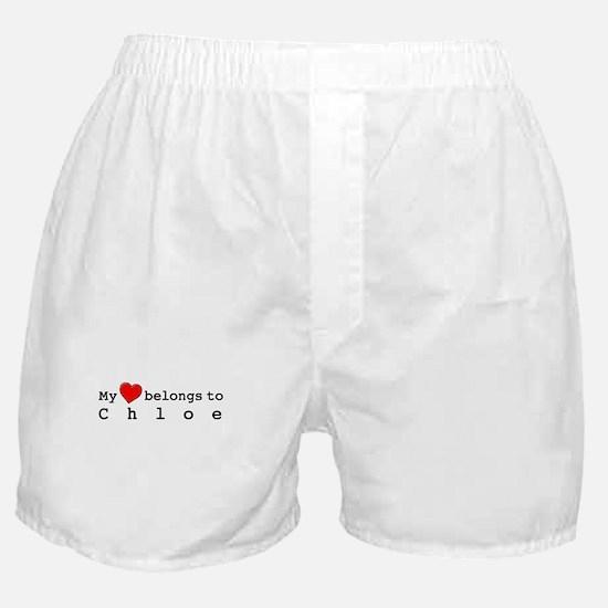 My Heart Belongs To Chloe Boxer Shorts