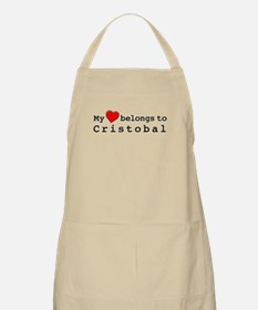 My Heart Belongs To Cristobal Apron