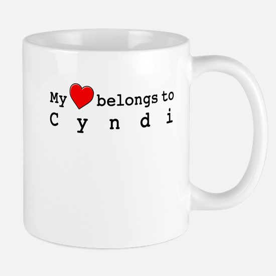 My Heart Belongs To Cyndi Mug