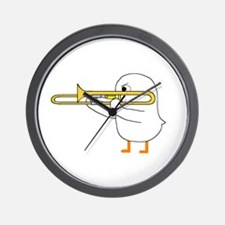 Trombone Player Wall Clock