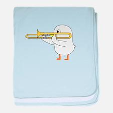 Trombone Player baby blanket