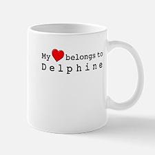 My Heart Belongs To Delphine Mug