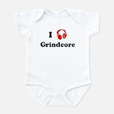 Grindcore music Infant Bodysuit