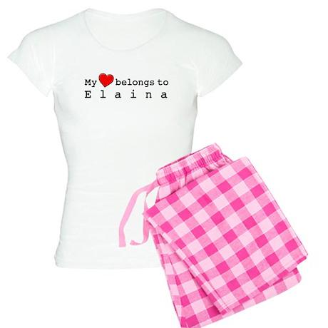 My Heart Belongs To Elaina Women's Light Pajamas