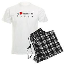 My Heart Belongs To Elisa Pajamas