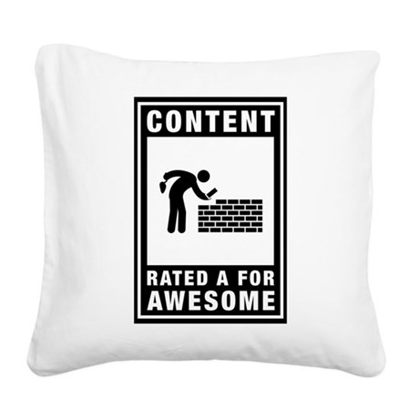 Bricklayer Square Canvas Pillow