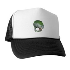 "Quaker Parrot ""What?"" Trucker Hat"