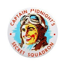 Captain Midnight's Secret Squ Ornament (Round)