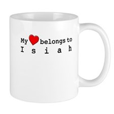My Heart Belongs To Isiah Small Mug