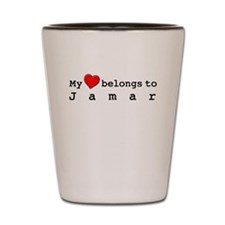 My Heart Belongs To Jamar Shot Glass
