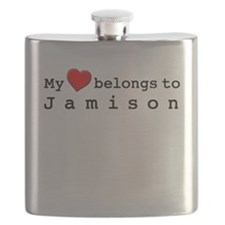 My Heart Belongs To Jamison Flask