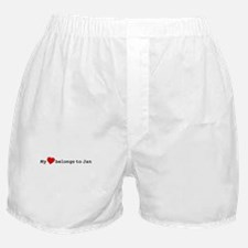 My Heart Belongs To Jan Boxer Shorts