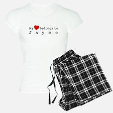 My Heart Belongs To Jayme pajamas