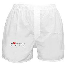 My Heart Belongs To Jeff Boxer Shorts