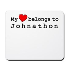 My Heart Belongs To Johnathon Mousepad