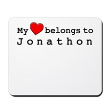 My Heart Belongs To Jonathon Mousepad