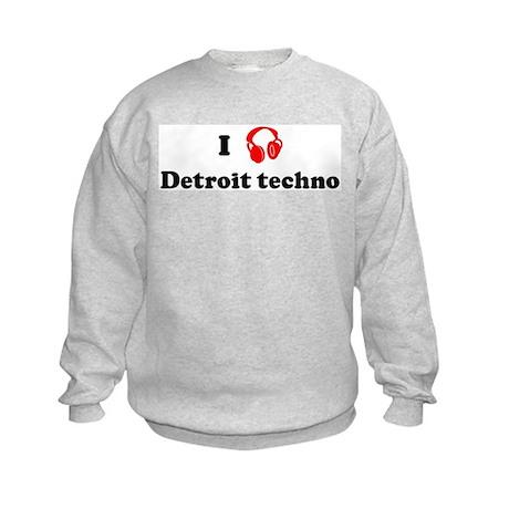 Detroit techno music Kids Sweatshirt