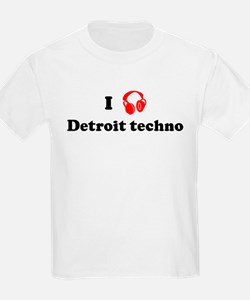 Detroit techno music Kids T-Shirt