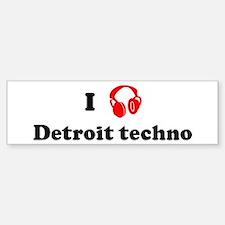 Detroit techno music Bumper Bumper Stickers