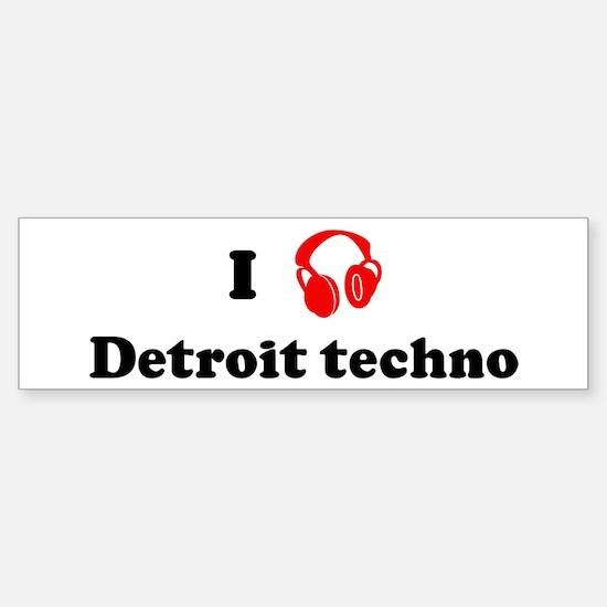 Detroit techno music Bumper Car Car Sticker