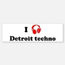 Detroit techno music Bumper Stickers