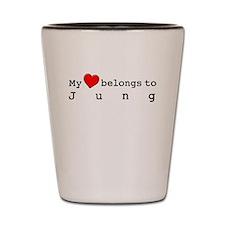 My Heart Belongs To Jung Shot Glass