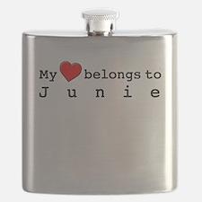 My Heart Belongs To Junie Flask