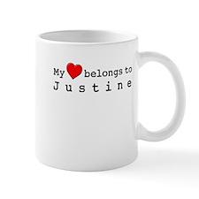 My Heart Belongs To Justine Small Mug