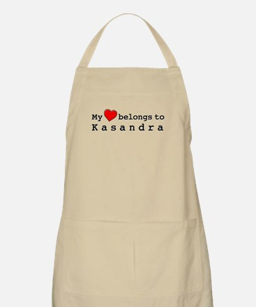 My Heart Belongs To Kasandra Apron