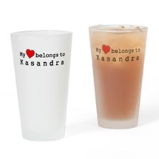 My Heart Belongs To Kasandra Drinking Glass