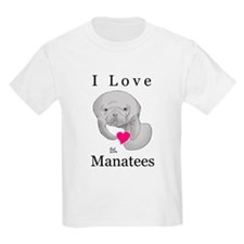 I Love Manatees Kids T-Shirt