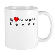 My Heart Belongs To Keven Small Mug