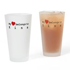 My Heart Belongs To Kina Drinking Glass