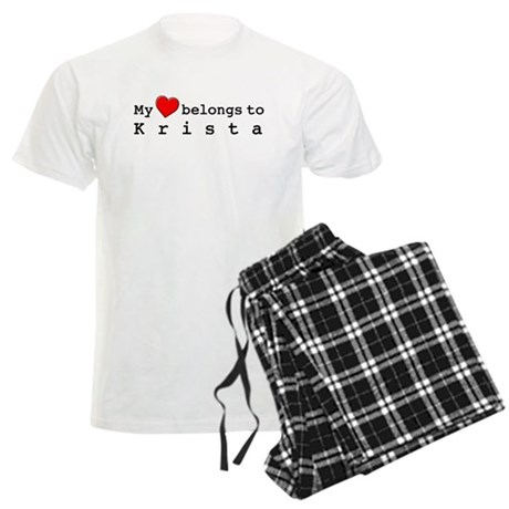 My Heart Belongs To Krista Men's Light Pajamas